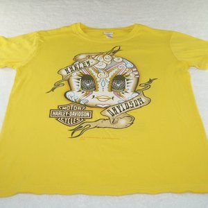 Harley Davidson Youth Looney Tunes Yellow Size 14